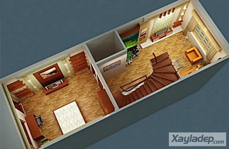 , Mẫu nhà ống 3 tầng diện tích 60m2 mặt tiền 6m phong cách hiện đại, Nhà đẹp