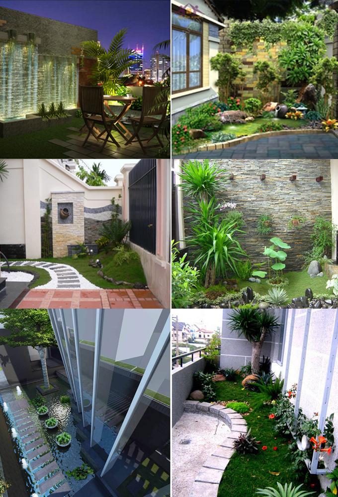 , Mẫu tiểu cảnh đẹp ấn tượng cho các căn biệt tự sân vườn và nhà ống, Nhà đẹp