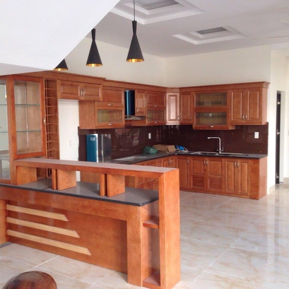 3. Mẫu tủ bếp gỗ đẹp