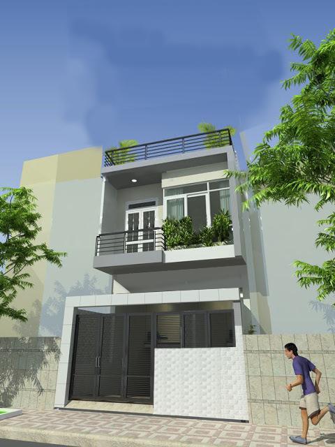 nhà 2 tầng, Tư vấn xây nhà 2 tầng mặt sàn 140m2 với kinh phí 500 triệu đồng, Nhà đẹp