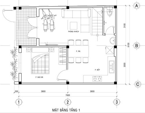 xay-nha-2-tang-kinh-phi-500-trieu-2 Tư vấn xây nhà 2 tầng mặt sàn 140m2 với kinh phí 500 triệu đồng