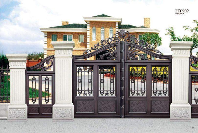 , 12 Mẫu cổng nhà đẹp hiện đại chào đón năm mới 2018, Nhà đẹp