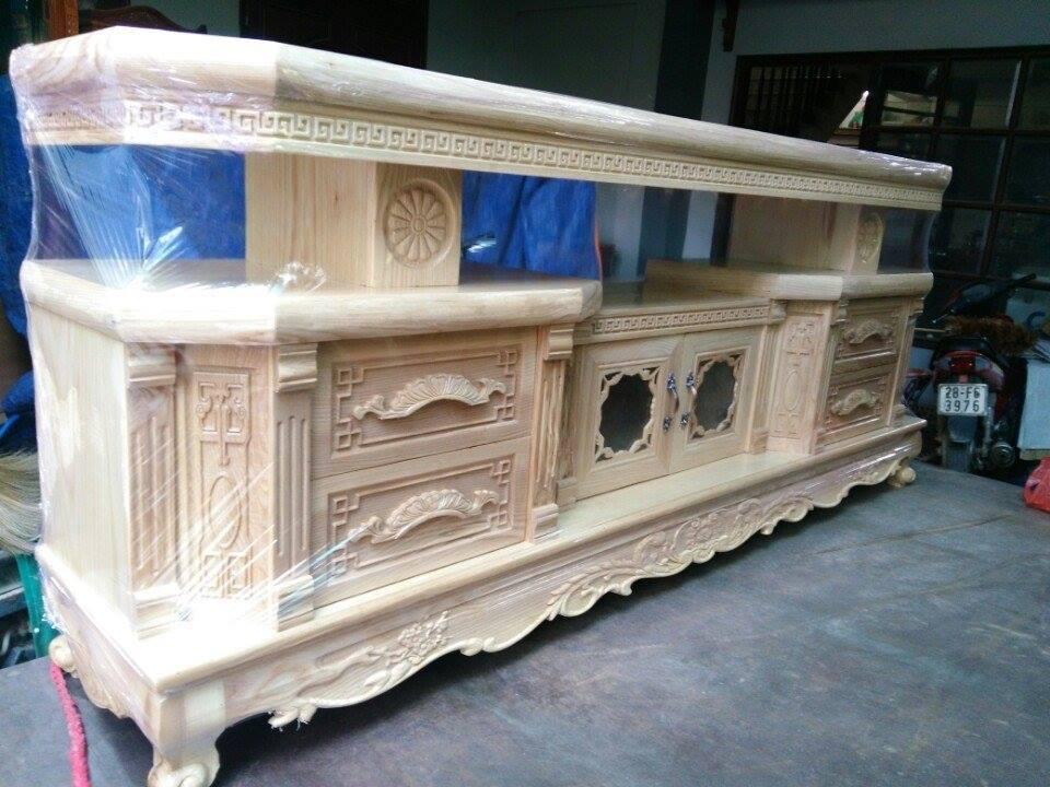 28 | kệ gỗ trang trí phòng khách