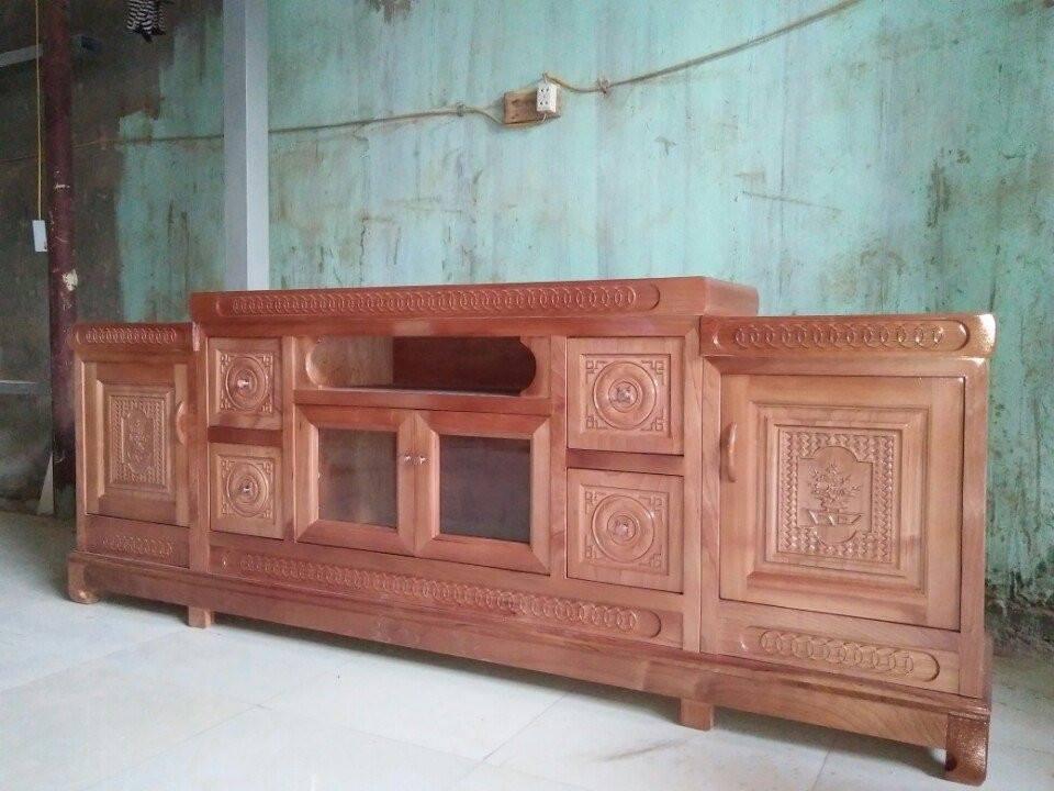 31 | kệ gỗ trang trí phòng khách