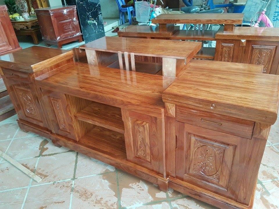 12 | kệ tivi bằng gỗ nguyên khối