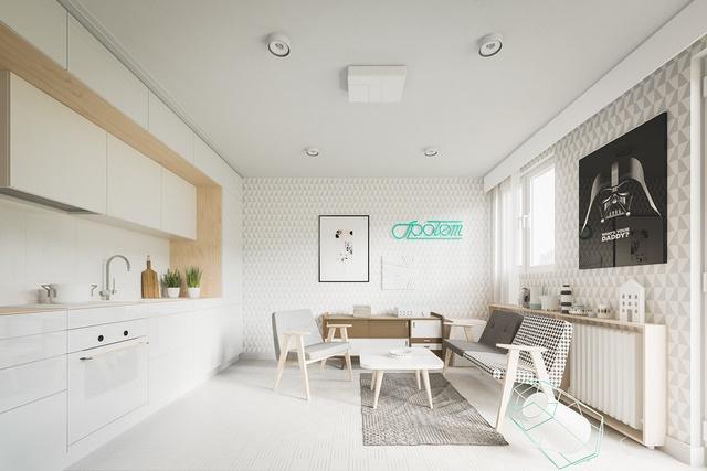 Thiết kế nội thất căn hộ chung cư 20m2 dành cho 2 người?