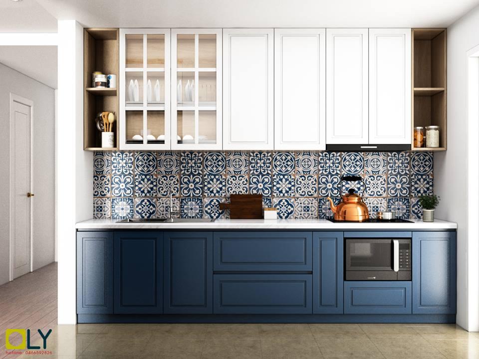 Thiết kế tủ bếp trong nội thất chung cư Goldmark City