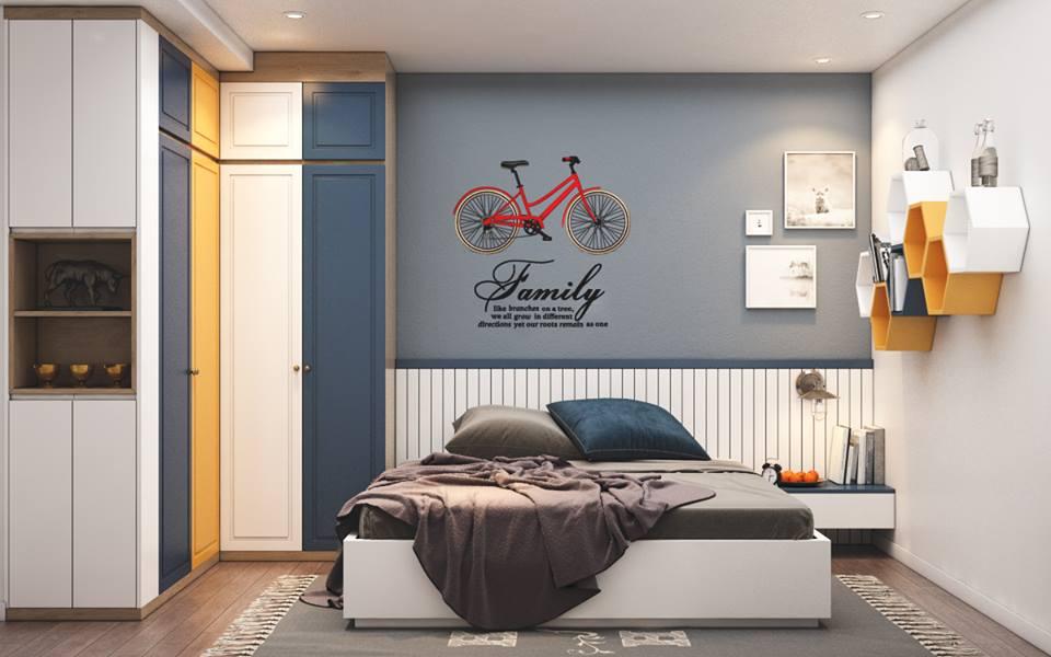 Thiết kế phòng ngủ trong nội thất chung cư Goldmark City