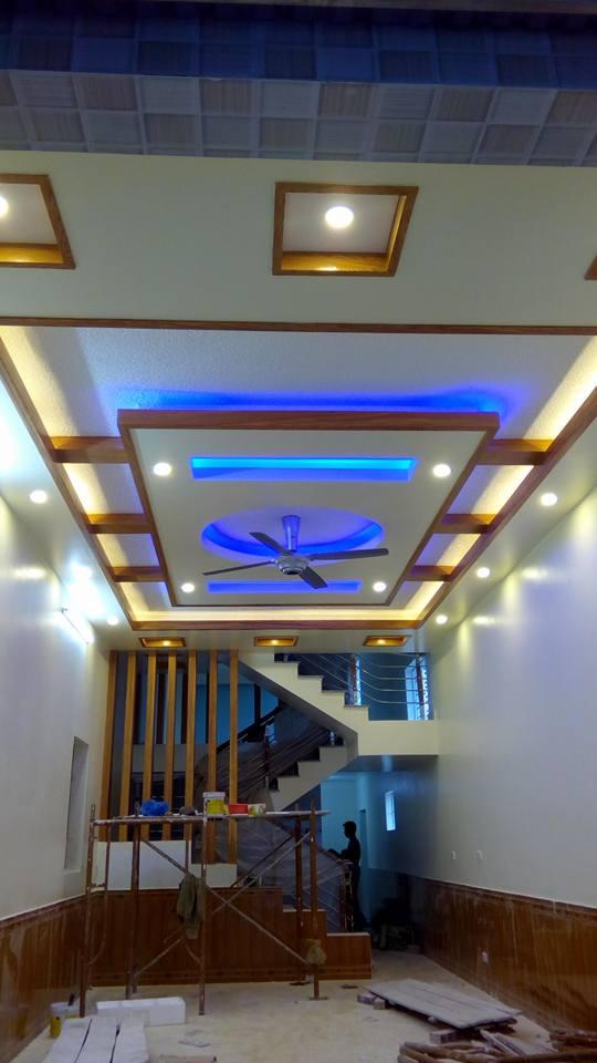 16. Phòng khách đẹp màu xanh dương