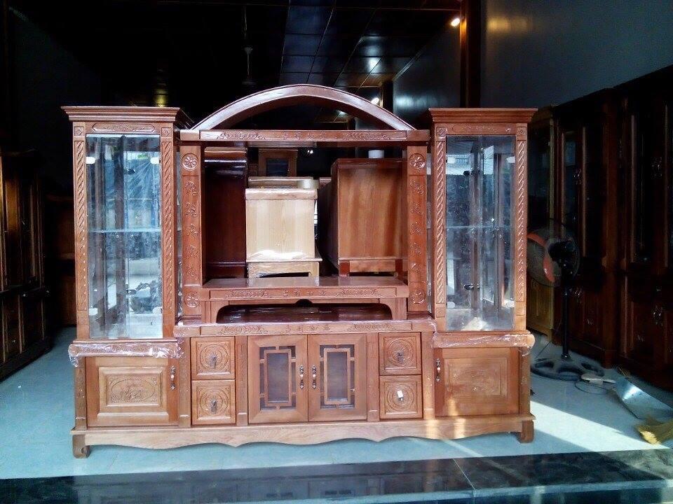 Hình 1: Mẫu tủ tivi gỗ tự nhiên cuốn hút ngay từ cái nhìn đầu tiên