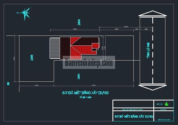 , Bản vẽ nhà cấp 4 nông thôn mái Thái kích thước 9,6mx21,9m, Nhà đẹp