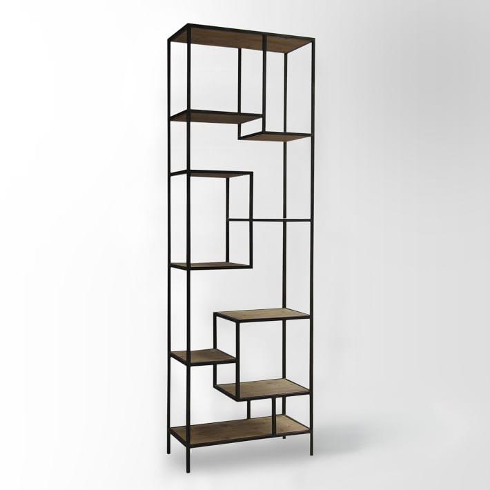 9 | Giá sách sắt gỗ hiện đại
