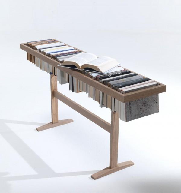 Kệ sách gỗ. Ảnh 05