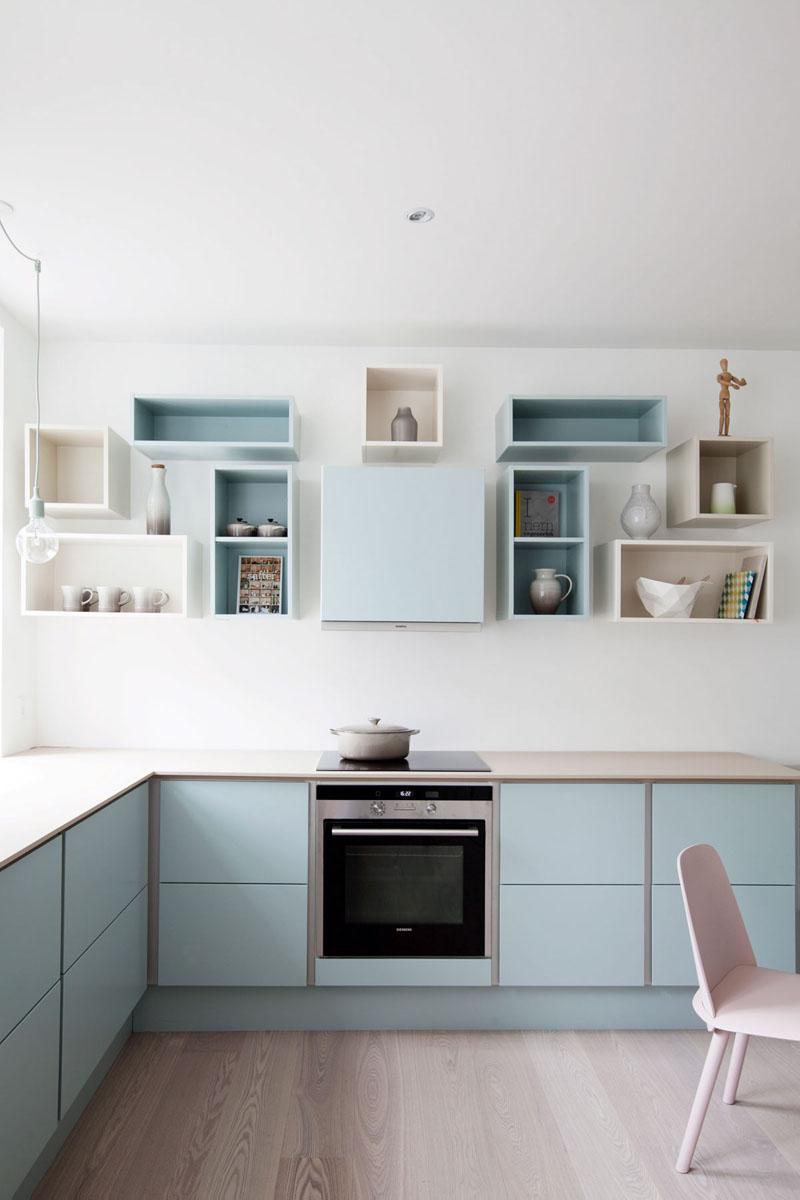 12 Gợi ý cho một tủ bếp hoàn hảo với tông màu xanh