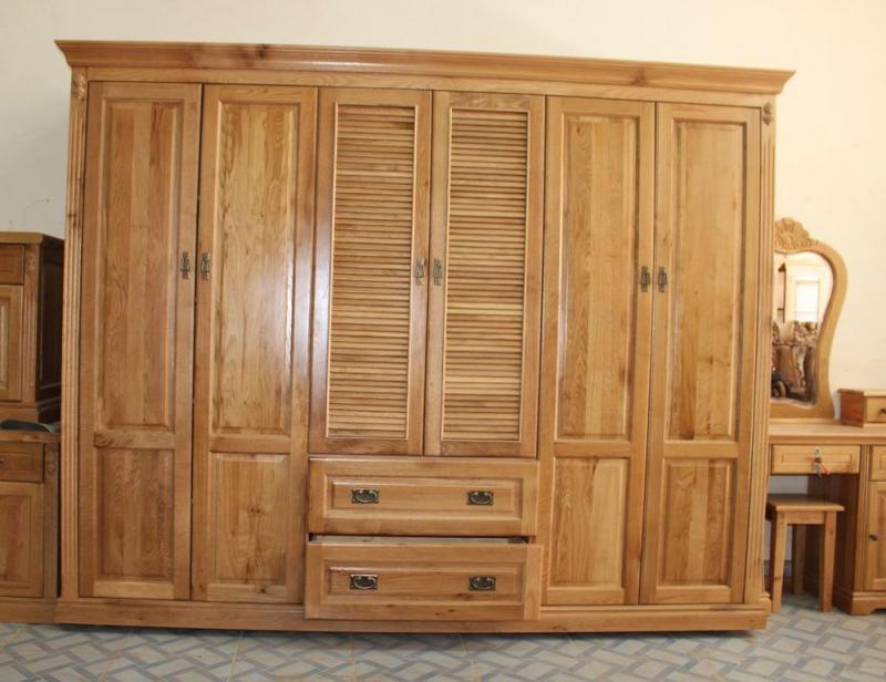 tủ quần áo gỗ tự nhiên, 18 Mẫu tủ quần áo gỗ tự nhiên đẹp nhất 2018, Nhà đẹp