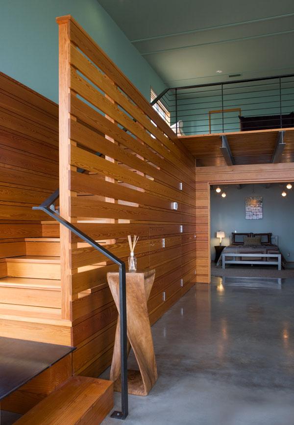 8 | Mẫu vách ngăn thường dùng cho các căn hộ có gác lửng với gỗ tự nhiên