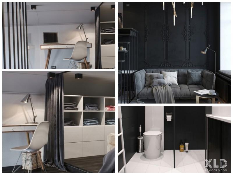Một số hình ảnh bên trong căn hộ chung cư 30m2. Click vào ảnh để xem đầy đủ)
