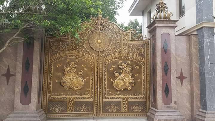 cổng nhôm đúc, 17 Mẫu cổng nhôm đúc tuyệt đẹp thể hiện sự sang trọng và tiện nghi, Nhà đẹp