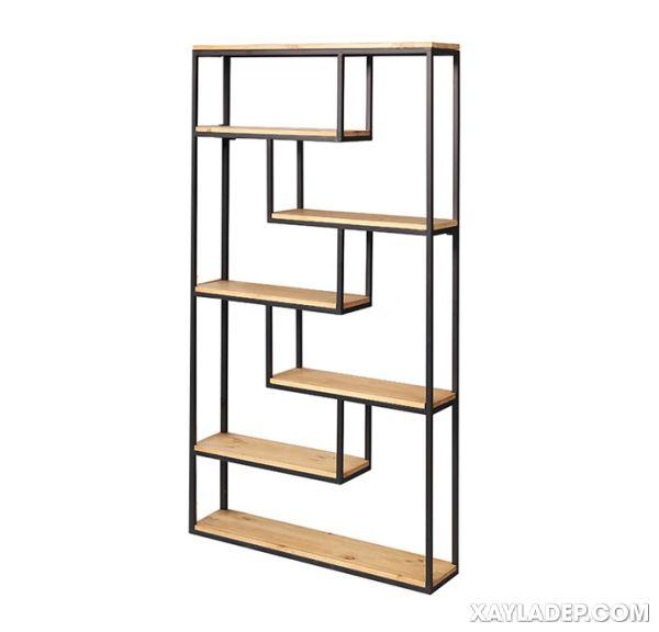 giá sách sắt, 25 Mẫu kệ sách bằng sắt đẹp 2021 treo tường và để sàn, Nhà đẹp