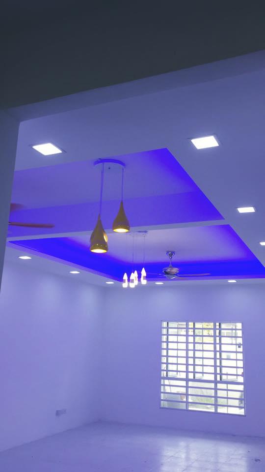13 | Hoàn thiện trần thạch cao phòng ngủ bằng sơn bóng