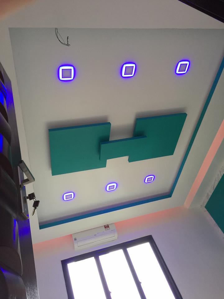 9 | Thiết kế trần thạch cao phòng khách tại Hà Nội