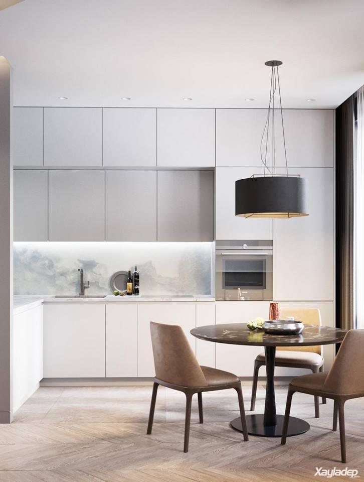 , Sự sang trọng trong căn hộ chung cư 60m2 phong cách hiện đại, Nhà đẹp