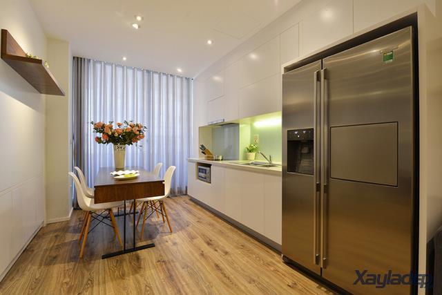 Phương án thiết kế nội thất chung cư 70m2 cho gia đình 6 người. Phòng bếp