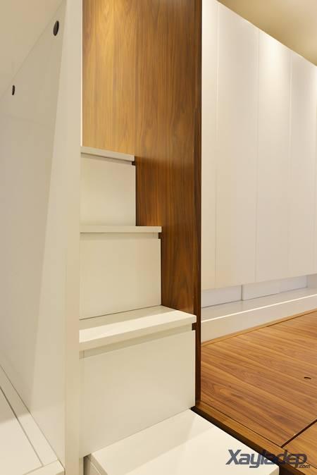 Phương án thiết kế nội thất chung cư 70m2 cho gia đình 6 người. Tủ để đồ