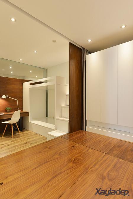 Phương án thiết kế nội thất chung cư 70m2 cho gia đình 6 người. Phòng ngủ bố mẹ