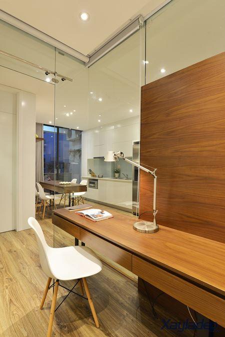 Phương án thiết kế nội thất chung cư 70m2 cho gia đình 6 người. Bàn học