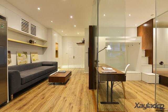 Phương án thiết kế nội thất chung cư 70m2 cho gia đình 6 người. Phòng khách