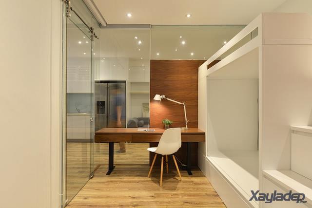 Phương án thiết kế nội thất chung cư 70m2 cho gia đình 6 người. Phòng ngủ trẻ em
