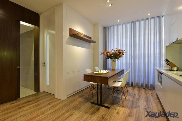 Phương án thiết kế nội thất chung cư 70m2 cho gia đình 6 người. Bàn ăn
