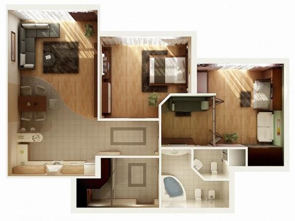 10 | Mẫu thiết kế nội thất chung cư 2 phòng ngủ