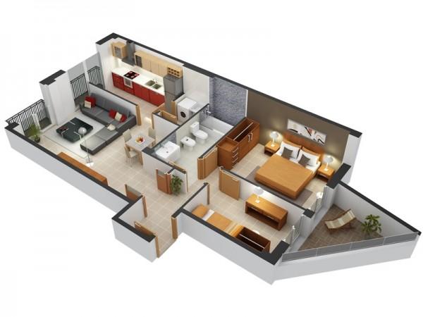 8 | Mẫu chung cư 2 phòng ngủ