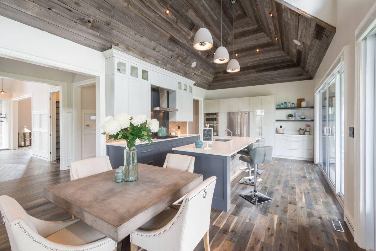 2. Mẫu sàn gỗ phòng bếp đẹp