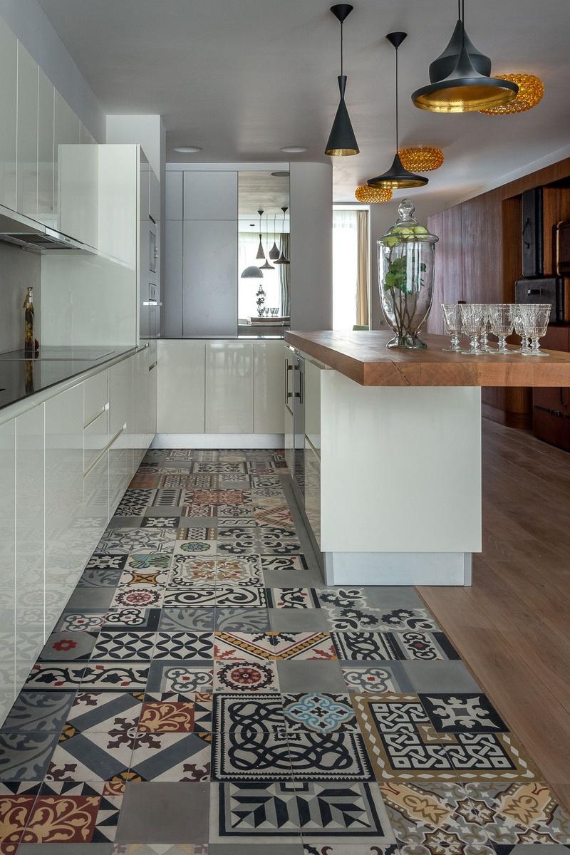 , 18 Ý tưởng cho sàn nhà bếp hiện đại tiện nghi, Nhà đẹp