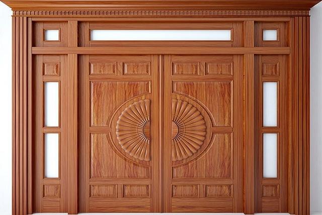 10. Mẫu cửa gỗ 4 cánh đẹp
