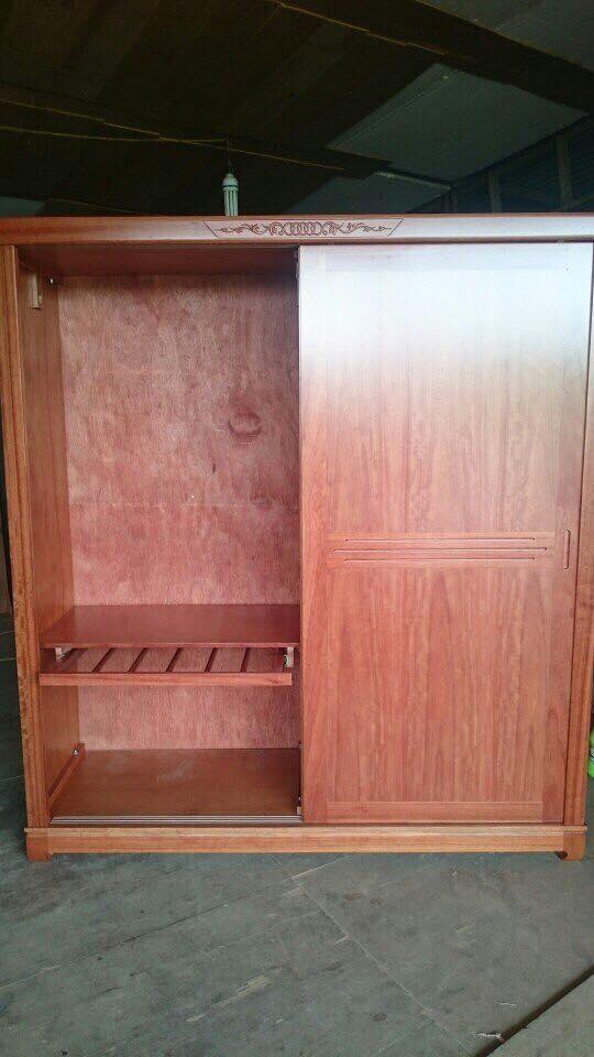 15. tủ quần áo gỗ xoan đào cửa lùa