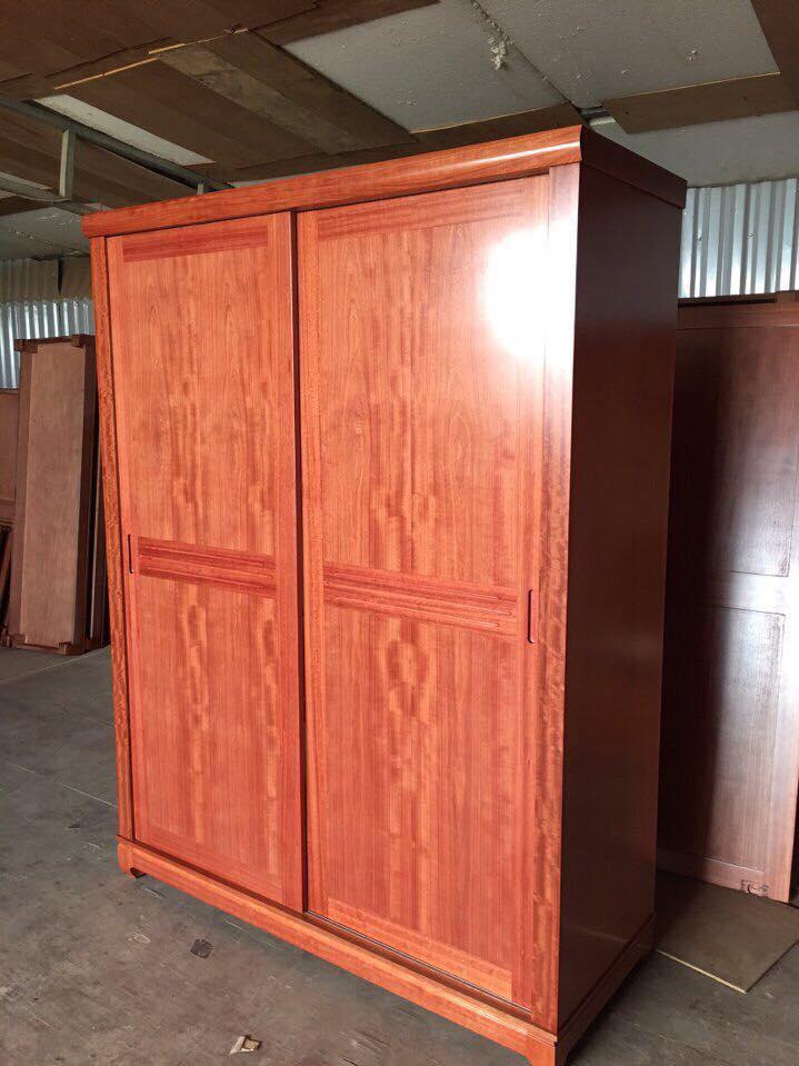 4. tủ quần áo gỗ xoan đào 2 buồng