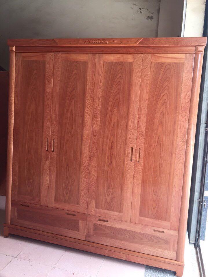 5. mẫu tủ quần áo gỗ xoan đào