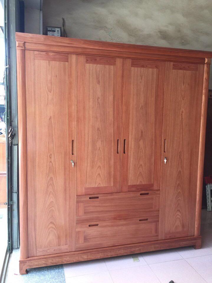 6. mẫu tủ quần áo gỗ xoan đào đẹp