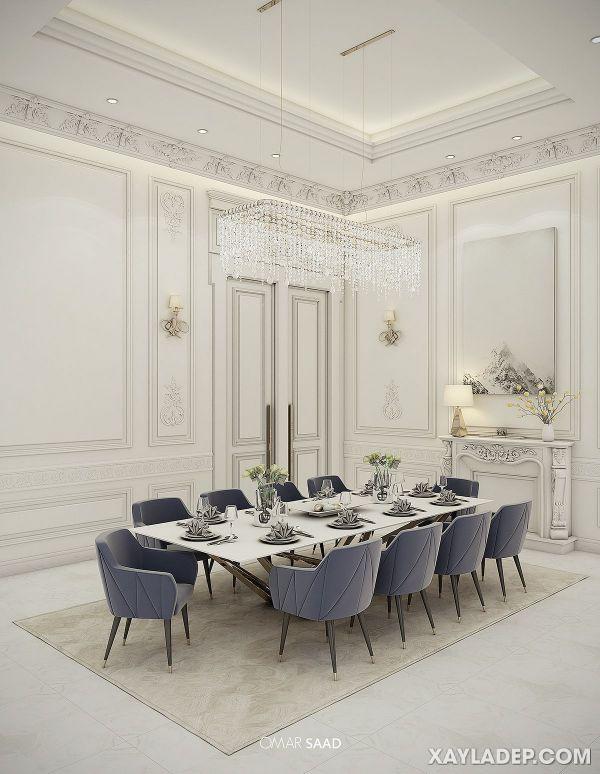 , 45 Mẫu trần thạch cao tân cổ điển đẹp nhất 2021, Nhà đẹp