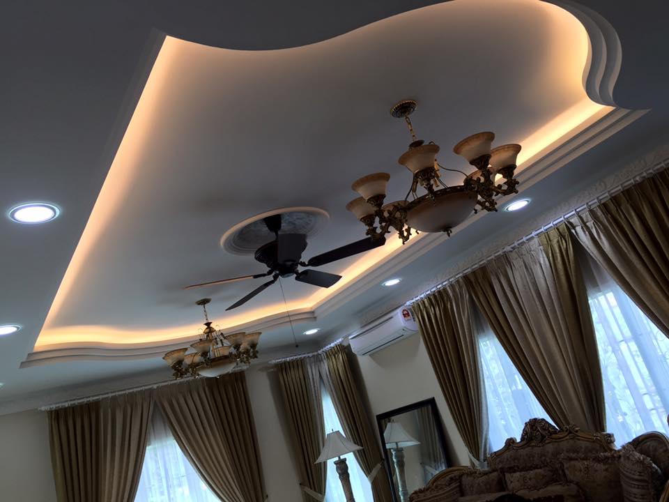 Mẫu 03: Trần thạch cao phòng khách
