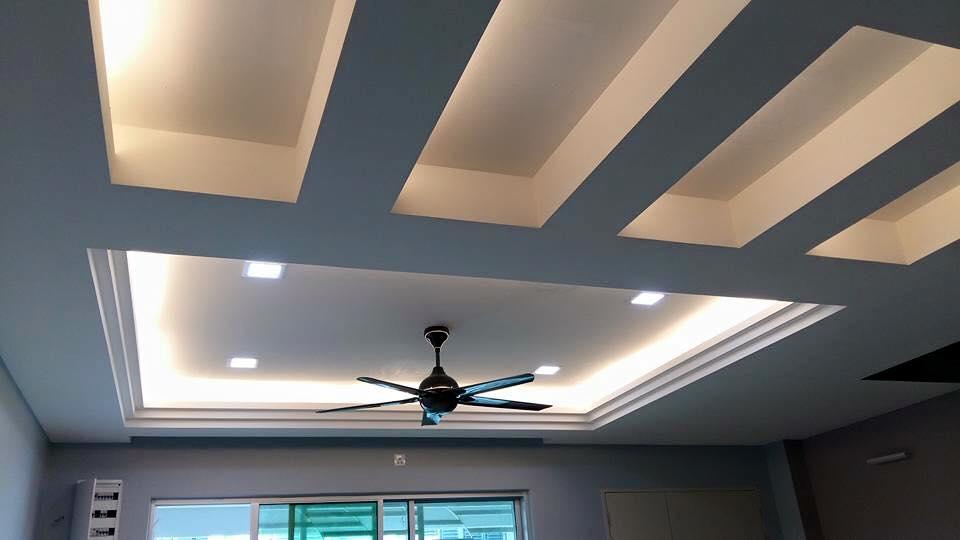 12 Mẫu trần thạch cao phòng khách nhà ống chung cư 2018. Ảnh 05