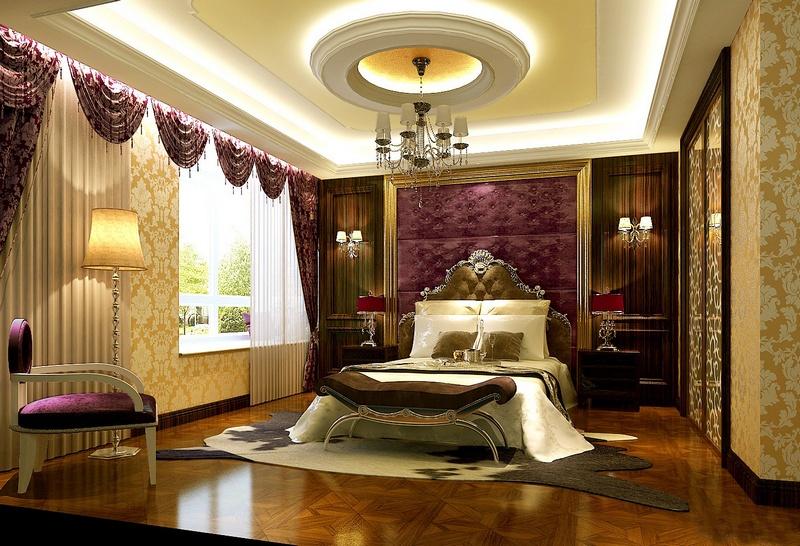 Mẫu trần thạch cao phòng ngủ tân cổ điển. Ảnh 06