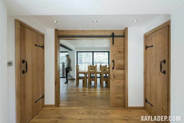 94 Mẫu cửa gỗ đẹp nhất 2021 cho cửa chính và cửa thông phòng mau cua thong phong dep 11