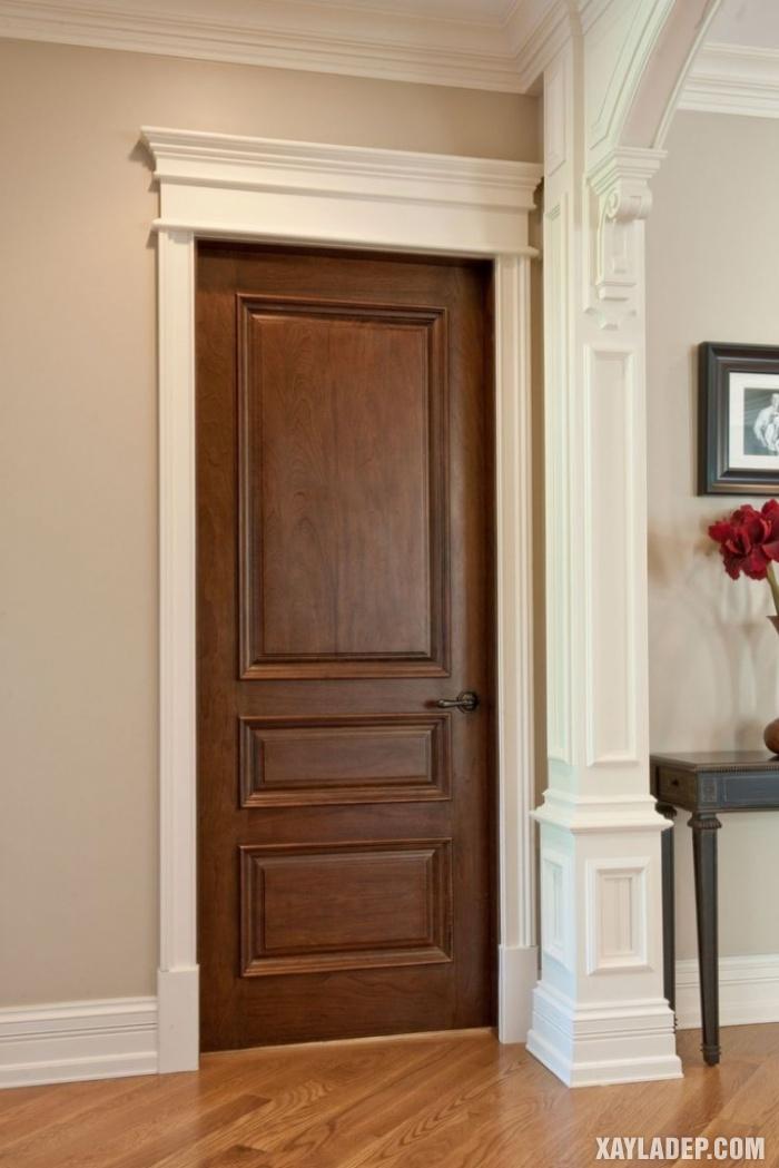 94 Mẫu cửa gỗ đẹp nhất 2021 cho cửa chính và cửa thông phòng mau cua thong phong dep 4