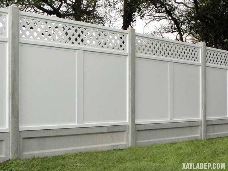 Mẫu hàng rào bê tông đẹp. Ảnh 13