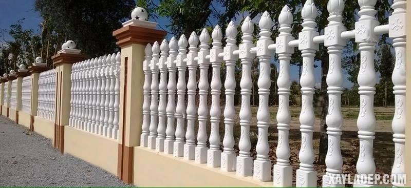 Mẫu hàng rào bê tông đẹp. Ảnh 16
